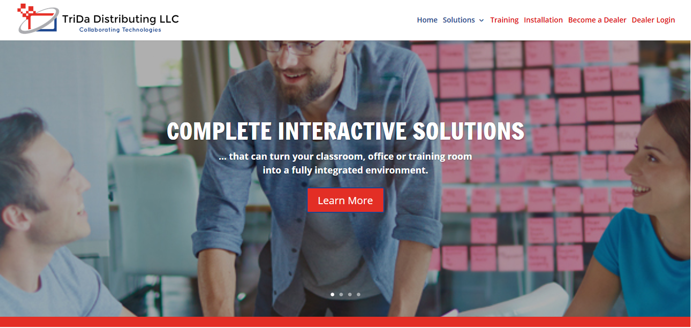 Interactive solutions website