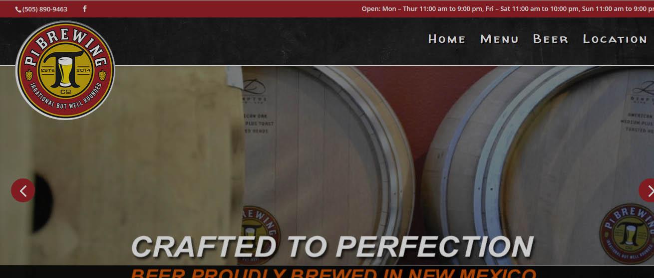 Food and Bar Website Design