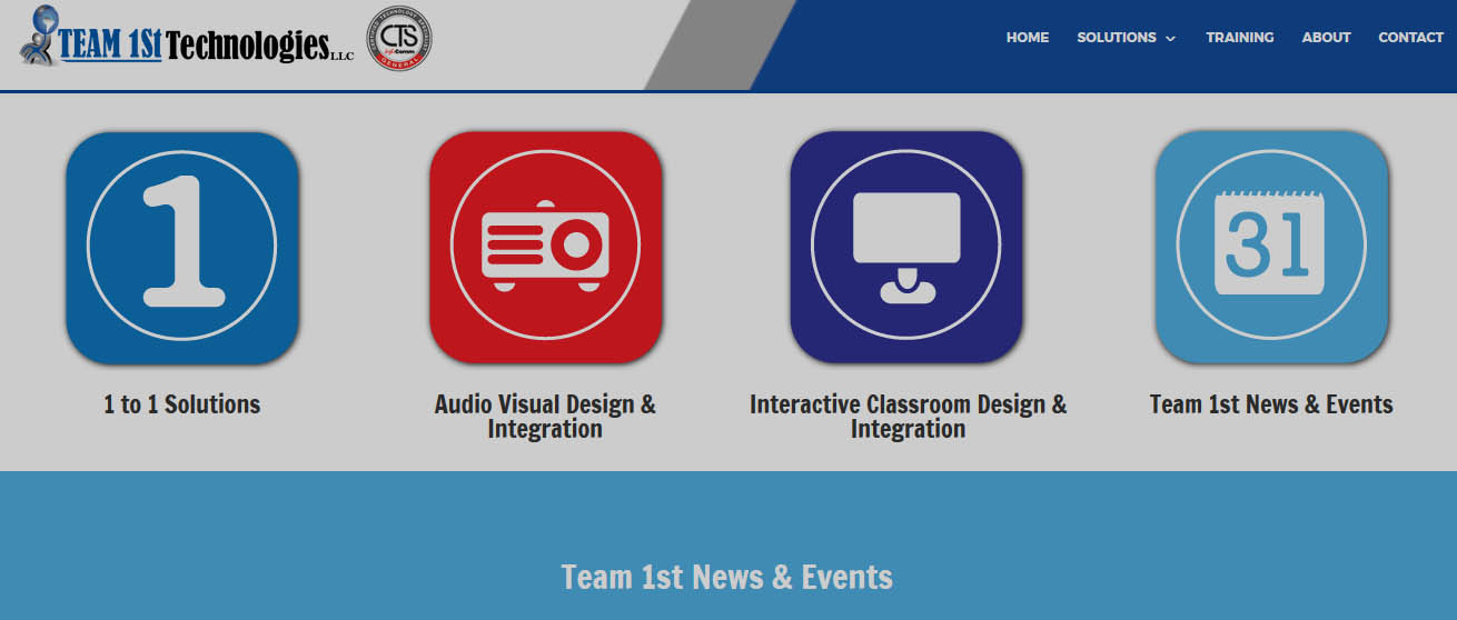 Interactive classroom website Design