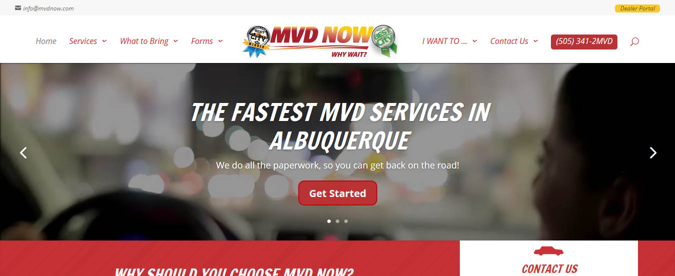 Motor Vehicle Operation   Website Design