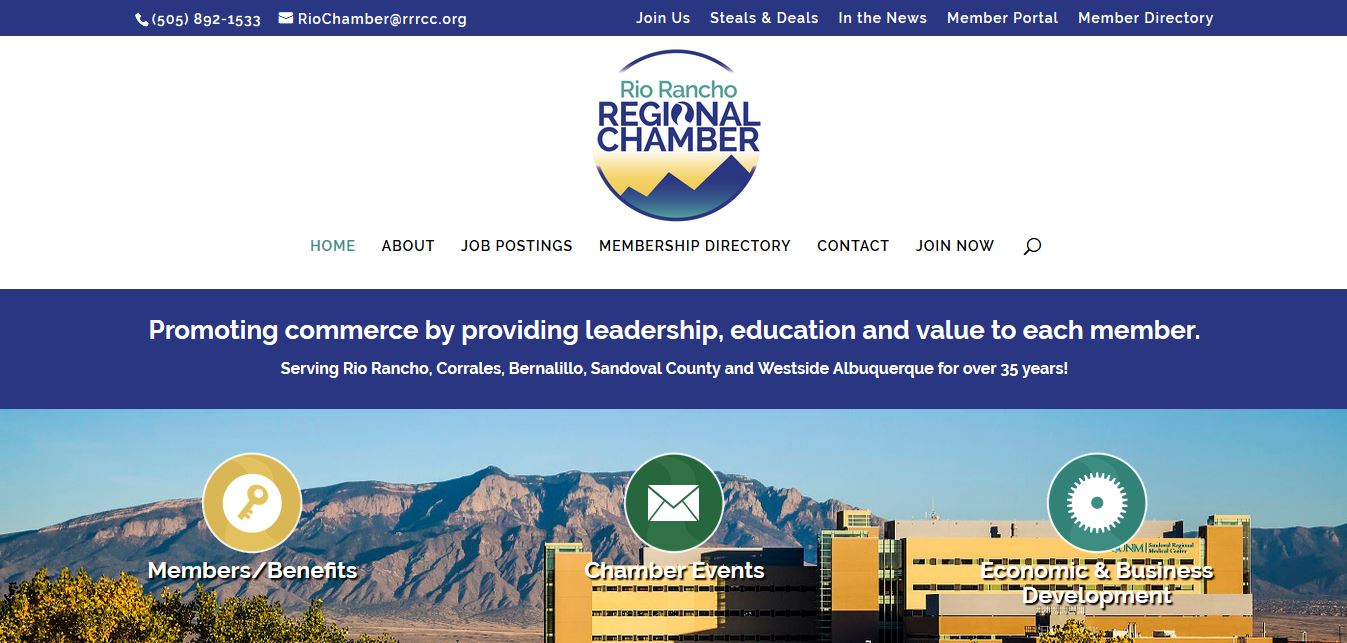 Rio Rancho Chamber of Commerce Website and SEO